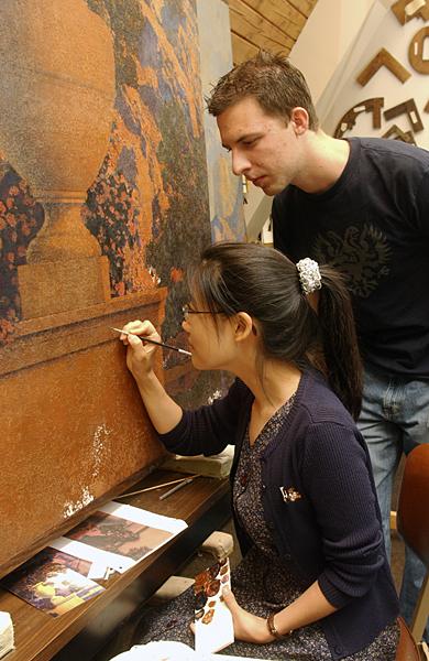 Maxfield Parrish murals at