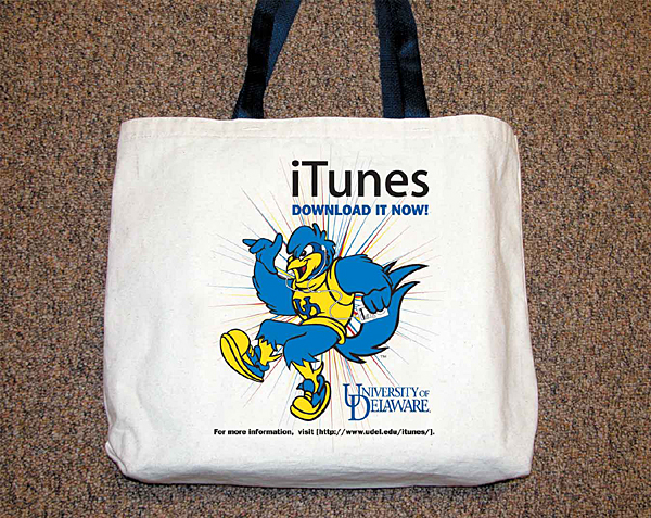 Free iTunes, more in DelaWorld book bag