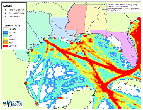 Delaware Traffic Map.Katrina S Effects On Shipping Analyzed
