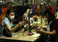 shoe workers