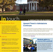 In Touch E-Newsletter Fall 2011