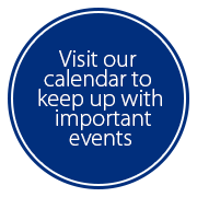 Visit our calendar to keep up with important events
