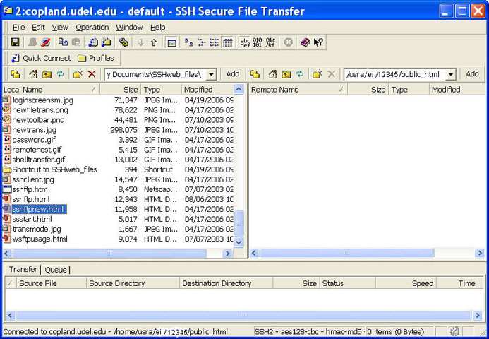 example file transfer window