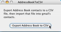Export the Address book to CSV