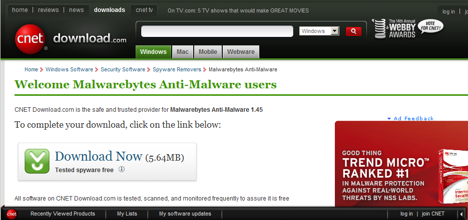 malwarebytes screen shot