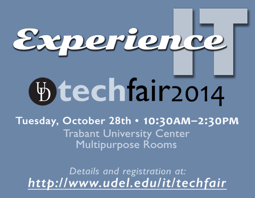 Come to Tech Fair 2014, Oct. 28, 2014, 10-2:30, Trabant