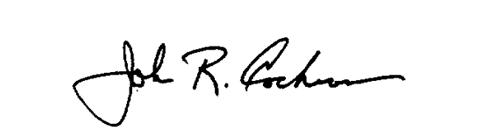 signature of Chairman John Cochran