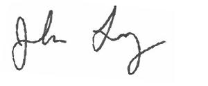 signature of Executive Vice President John Long