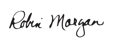 signature of Provost Robin Morgan