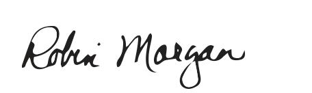 signature of Provost Robin Morgan