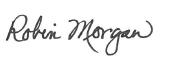 signature of Interim Provost Robin Morgan