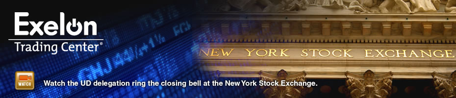 Watch the UD delegation ring the closing bell at the New York Stock Exchange. Video Clip.