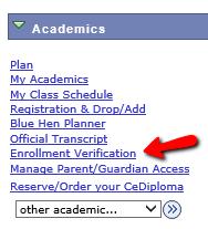 Enrollment Verification Student Resources Registrar S Office