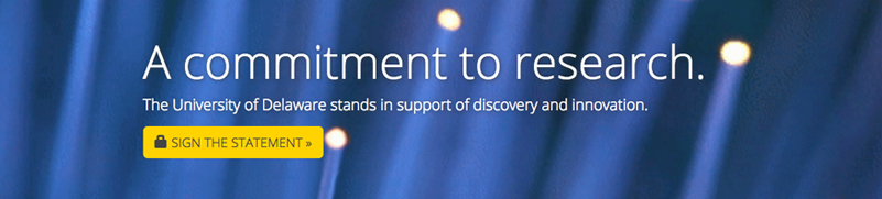 A commitment to research. Sign the Statment!