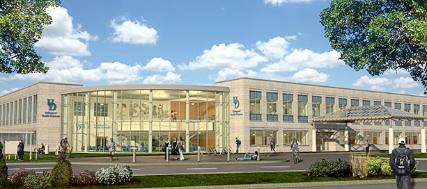 College of Health Sciences Building Architects Rendering
