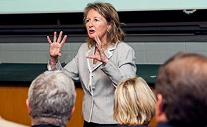 Dean Kathleen Matt Speaking at a public forum