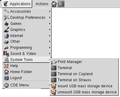 System tools submenu pc2018