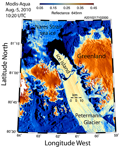 Oh no! Greenland glacier calves island 4 times the size of Manhattan Petermann20102171020Aqualg