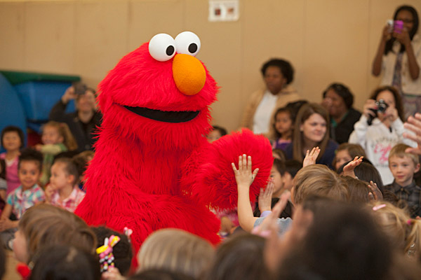 Characters from sesame street live visit uds early learning center m4hsunfo