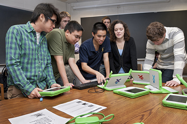 UD students create math games for middle school children