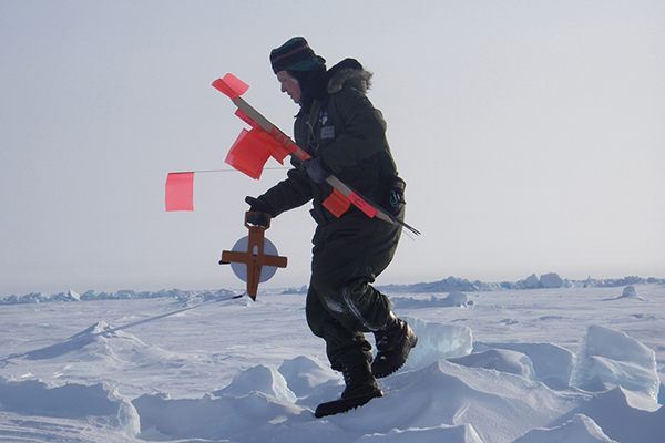 UD's Cathleen Geiger and her research team are traveling to the Arctic to measure sea ice.