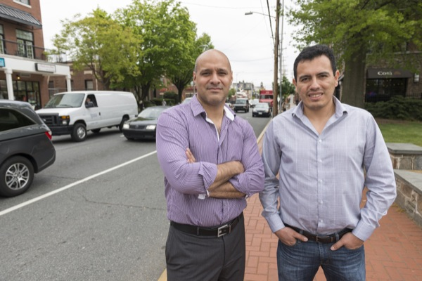 John Cavazos (left) and Marco Alvarez have received an NSF I-Corps grant to develop a system to detect traffic congestion.