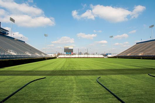 grass american football field. Delaware Stadium Takes A Pass On Grass American Football Field
