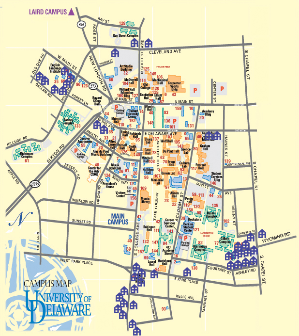 University Of Delaware Campus Map University of Delaware Property Directory