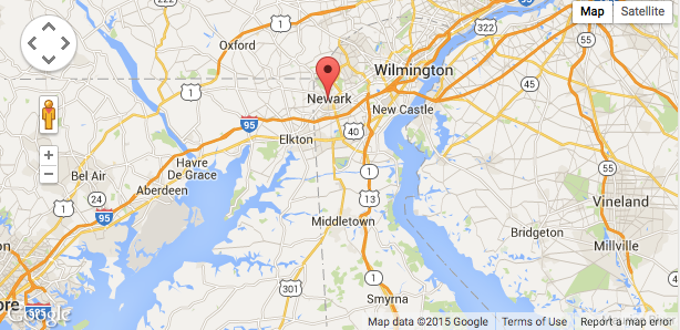 Map of Newark, DE