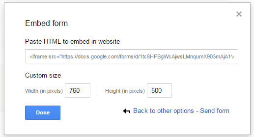Creating A Google Contact Form