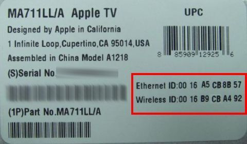 Finding the MAC address for a browserless device