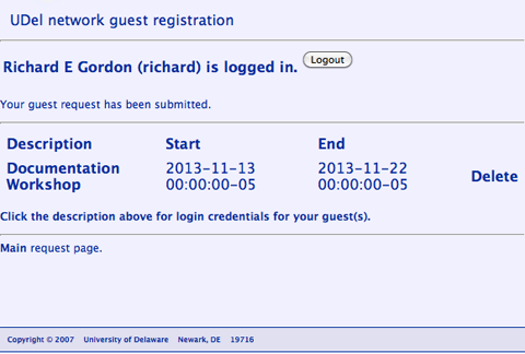 UD IT: Guest Access to UDelNet Resources