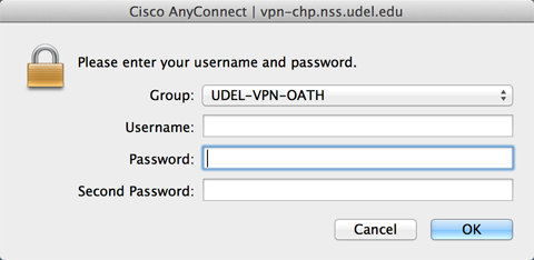 Using AnyConnect VPN client software