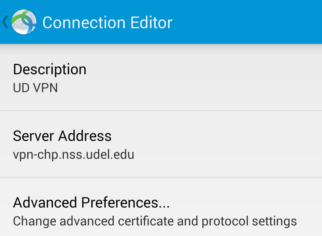 Connection editor