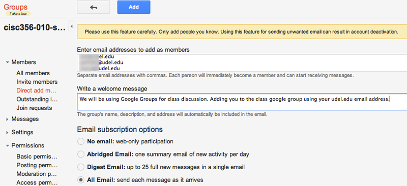 Ud It Google Groups Owner Settings