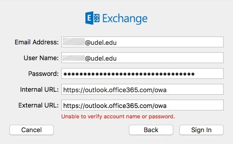 Exchange Online: Configure Mac Mail, Calendar, and Contacts