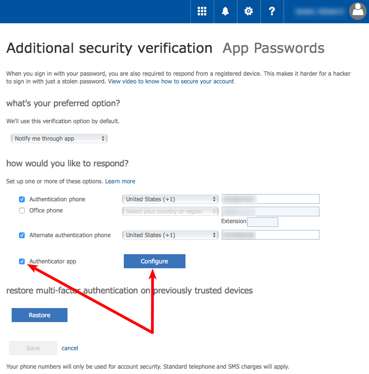 Using MS Multi-Factor Authentication (MFA)