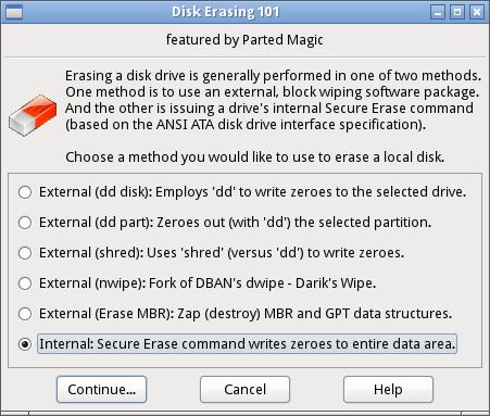 Whole disk erase | Windows