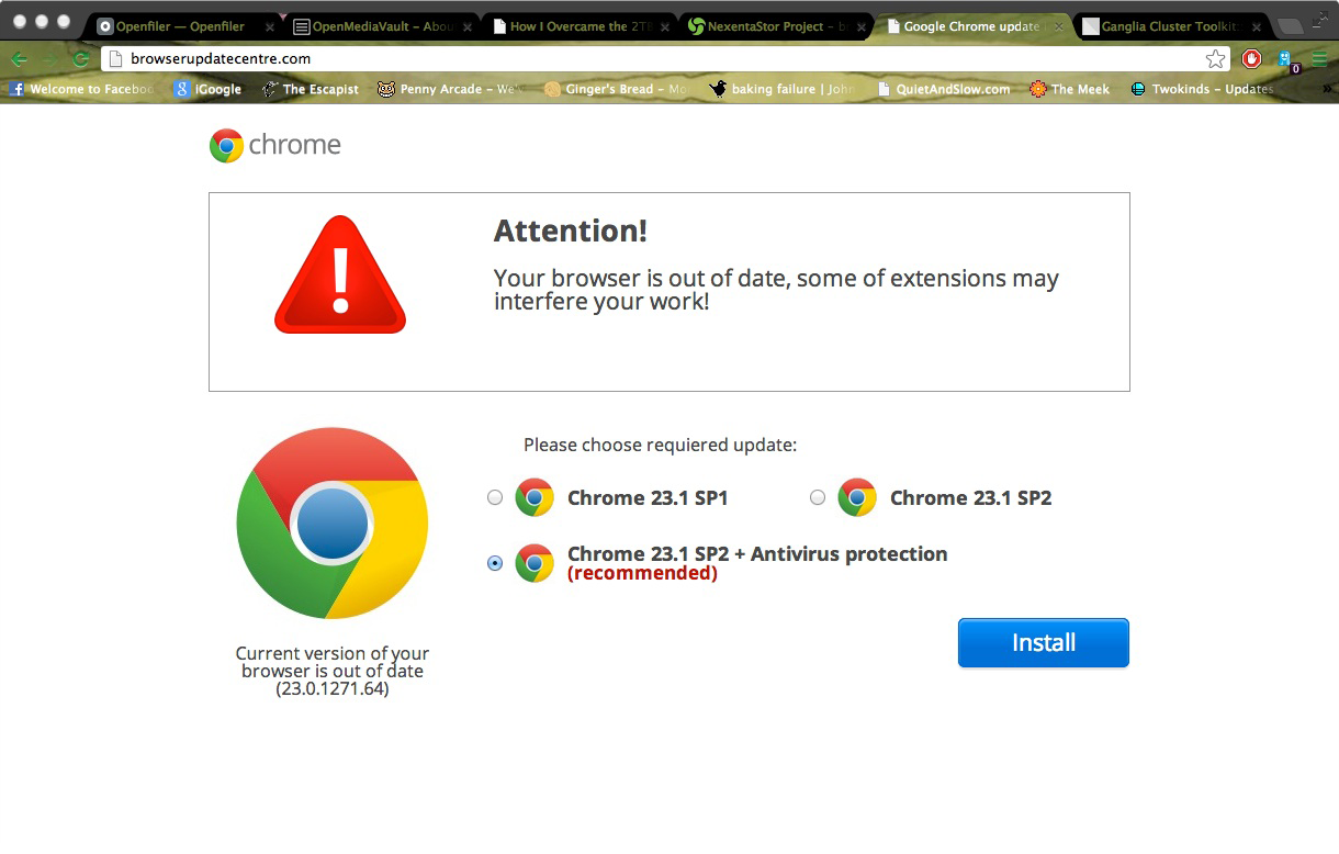 Browser Update Scams