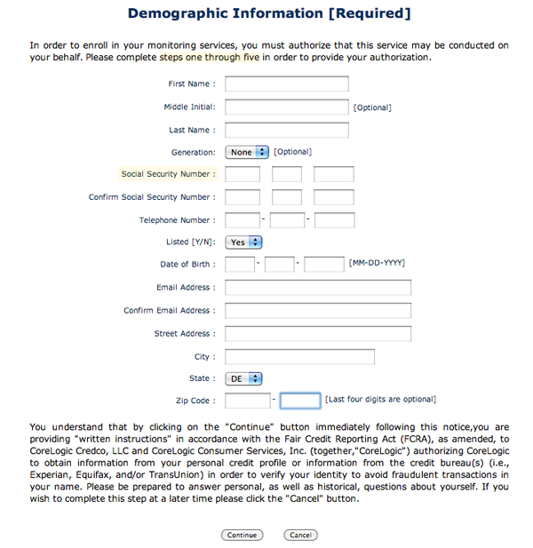 Online Kroll Sign-Up Forms