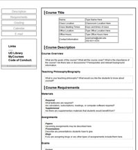 Ud present tools syllabus templates for Create a syllabus template