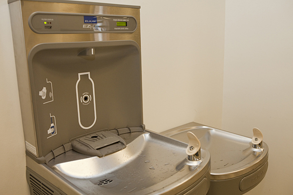 Ud S First Water Bottle Refill Station Opens In Perkins