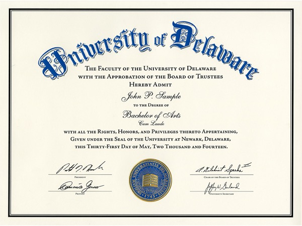 university of delaware unveils new diploma design reflecting heritage